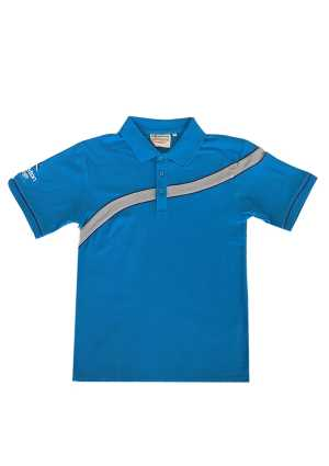 Rolleston College Polo Cyan/Silver